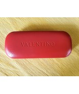 """Valentino Red Leather Hard Shell Glasses Case Lined with V Logo 6""""  - $16.99"""