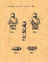 Legoman Toy Figure Patent Print - $7.95+