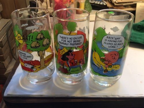 abf83f5dc0 12. 12. Previous. Set of 3 McDonalds Camp Snoopy Collection Glasses Charlie  Brown Nice! Set of 3 McDonalds ...