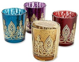 Indian Jewel Henna Votives - Assorted (Set of 4) - $140.65