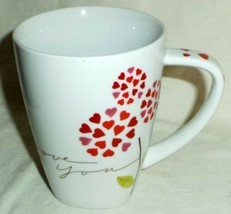 Starbucks I Love You 12 oz 2007 Mug Hearts and Flowers - $14.24