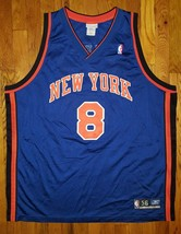 Authentic 2003 Reebok New York Knicks NYK Latrell Sprewell Road Blue Jer... - $309.99