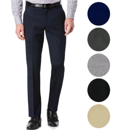 TM Exposure Men's Premium Slim Fit Dress Pants Slacks Flat Front Multiple Colors