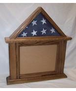 Oak Flag & Document Display 3x5 Flag, 8.5x11 Landscape Cert Frame, Walnu... - $95.00