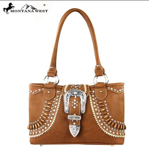 Buckle Collection Montana West Satchel Handbag NEW!