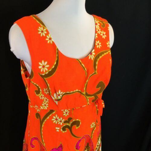 Alfred Shaheen Flower Power Summer Sun Dress Poly Pop Aloha M