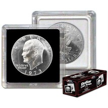 Box of 25 BCW 2X2 COIN SNAP - DOLLAR - BLACK for Premium Long-term Stora... - $11.74