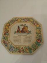 Vintage Avon Tin Plate English Christmas Plum Pudding Recipe 1982 - $10.88