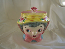 Vintage Lefton ESD Little Grey Haired Lady Cookie Jar - $375.00