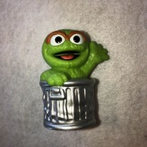 "Sesame Street Friends Oscar The Grouch 3"" Mini Figure Birthday Cake Topper Decor - $4.99"