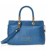 NWT Marc by Marc Jacobs Too Hot to Handle Leather Satchel Bag BLUE $428+... - $275.00