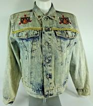 Womens Vintage Expressions RHINESTONE Acid Washed Denim Trucker Jean Jac... - $31.66
