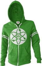 The Big Bang Theory Atom Logo Zippered Green Hoodie Size XXL NEW UNWORN - $38.69
