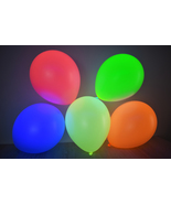 Set of 25 Assorted 11 inch UV Blacklight Reactive Latex Balloons - $11.95