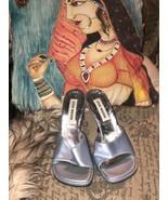 STEVE MADDEN Sexy Baby Blue Heels Size 5 1/2 M - $17.82