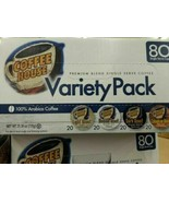 Coffee House Variety Pack 80 CT K Cup Pod Capsule 100% Arabica - $29.70