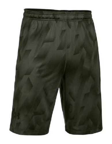 Small Men's Under Armour Shorts Raid Heatgear Loose Fit Athletic Short Green