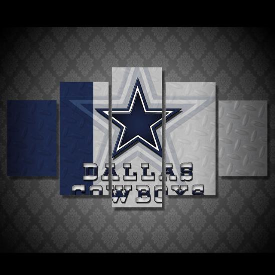 Dallas Cowboys Football Canvas Wall Art: New 5 Panels Dallas Cowboys Sports Team Canvas Prints