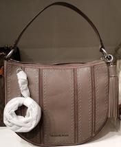 MICHAEL KORS Brooklyn Medium Grommet Shoulder bag Hobo $498 CINDER NWT - $153.45