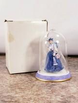 Avon Mrs P F E Albee Snow Globe Figure Porcelain Glass Award 19 Blue Dre... - $11.62