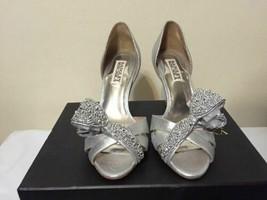 Badgley Mischka Vita Silver Antique Metallic Women's Heels Sandals US 6 ... - €79,49 EUR