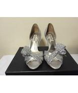 Badgley Mischka Vita Silver Antique Metallic Women's Heels Sandals US 6 ... - $86.13