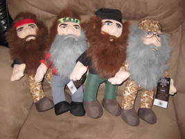 "DUCK DYNASTY COMPLETE SET Si Phil Jase Willie New Licensed Plush 13"" RAR... - $29.99"