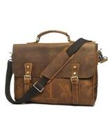 Sale, Vintage Leather Messenger Bag, Leather Briefcase, HandMade Bag, Cr... - $175.00