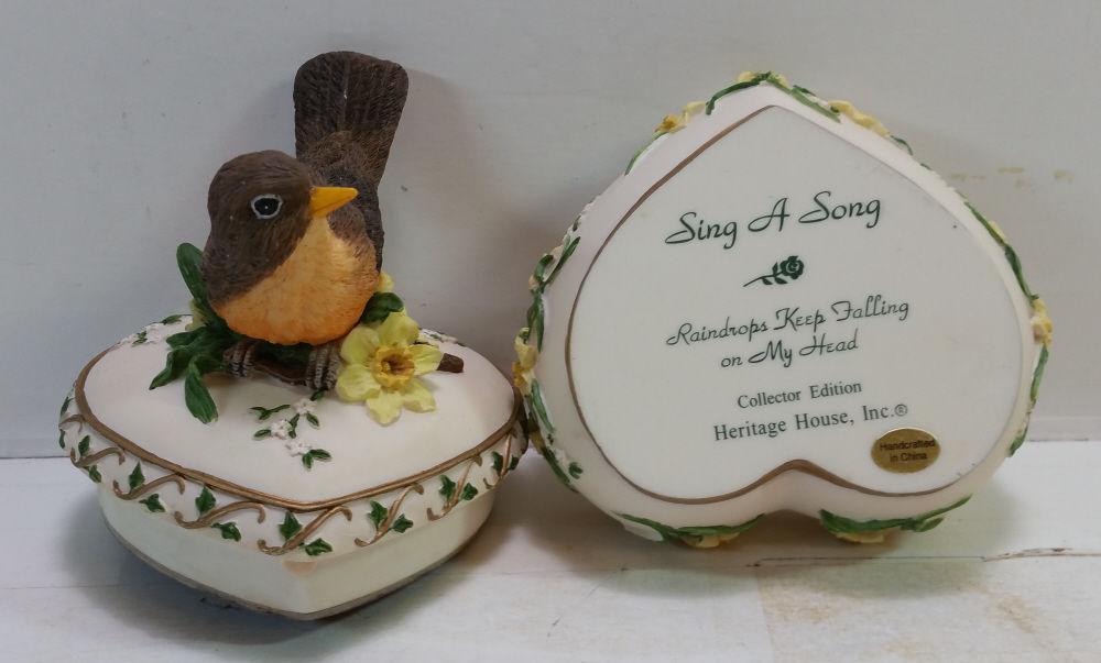 Heritage House Sing A Song Music Box Series Raindrops Keep Fallin on My Head