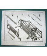 1763 DIDEROT PRINT - Stocking Frame Knitting Machine Expanded View no. 6 - $19.80