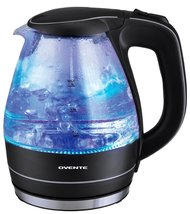 Ovente 1.5 Liter BPA Free Glass Cordless Electric Kettle, Black (KG83B) - $32.69