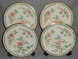 Set (4) Lenox MORNING BLOSSOM PATTERN Salad Plates MADE IN USA - $63.35
