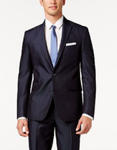 Kenneth Cole Reaction Navy Micro-Stripe Slim-Fit Blazer, Size 40L - $79.19