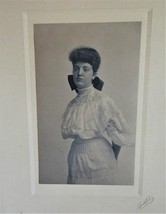 Vintage Photo Woman in Victorian Style ~ Smith Curry Studio Rochester NY... - $4.00