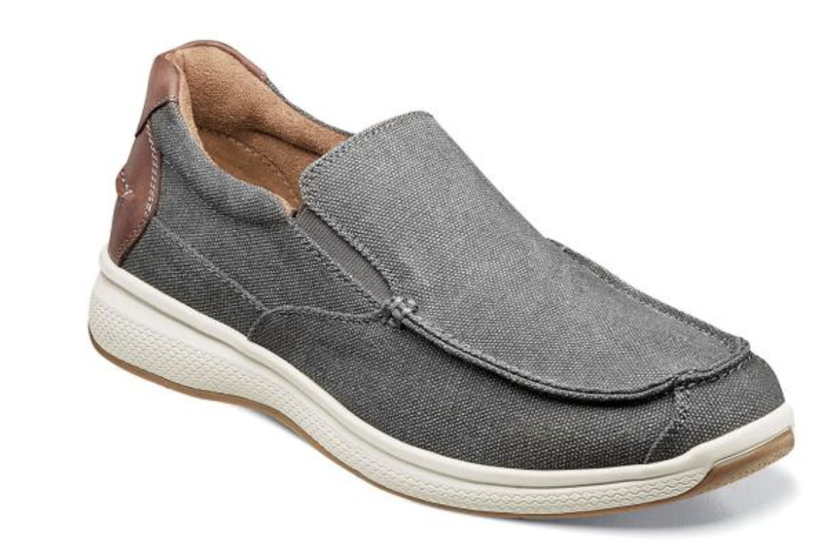 Primary image for Florsheim Shoes Great Lakes Canvas Moc Toe Slip On Gray 13327-020