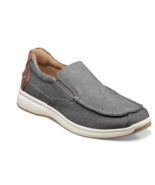Florsheim Shoes Great Lakes Canvas Moc Toe Slip On Gray 13327-020 - £68.86 GBP