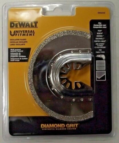 "Primary image for DEWALT DWA4240 Universal Fitment Diamond Grit 3"" Half-Moon Oscillating Blade"