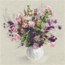 RIOLIS Counted Cross Stitch Kit, Summer Bouquet, Kit #R1010 - $35.59