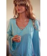 BOHO Aqua JUNIOR Misses LARGE KNIT Bell Slv Tie Shirt Pullover TUNIC 11 ... - $22.99