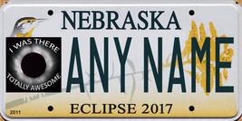 Solar eclipse 2017 Nebraska custom personalized souvenir license plate - $8.99