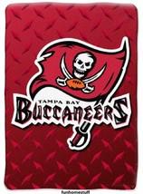 NFL TAMPA BAY BUCCS BUCCANEERS Soft Plush Warm Twin Game Throw Blanket 6... - $52.95