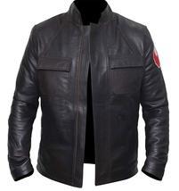Star Space Hero Dameron Brown Isaac Real Leather Wars Jacket image 2