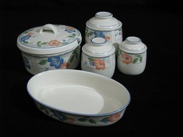 """Lot of Mikasa """"Country Poppies"""" CAC42 Covered Casserole, Baking Dish 3 C... - $119.00"""