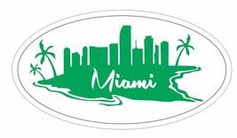 Miami Florida Oval Bumper Sticker or Helmet Sticker D3768 - $1.39+