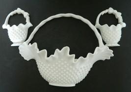 Home Interior Burwood White Hobnail Basket Wall Pocket Planters Three Pi... - $21.66