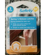 Safety 1st Spring 'n Release Latches 3 Pack Baby Proof Cabinets - $4.94