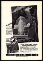 Horse Western Chaps Cowboy Yellowstone Park Tour Northern Pacific Rail 1... - $9.99