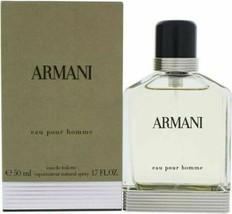 Armani Eau Pour Homme Eau de Toilette Natural Spray 1.7 oz 50 ml NEW SEALED BOX - $129.99