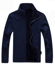 7XL 8XL Mens Softshell Fleece Casual Jackets Men Winter Warm Sweatshirt ... - $44.10
