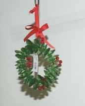 Ganz Crystal Expressions ACRYX165 Holiday Wreath Ornament Red Green Set of 6 image 2